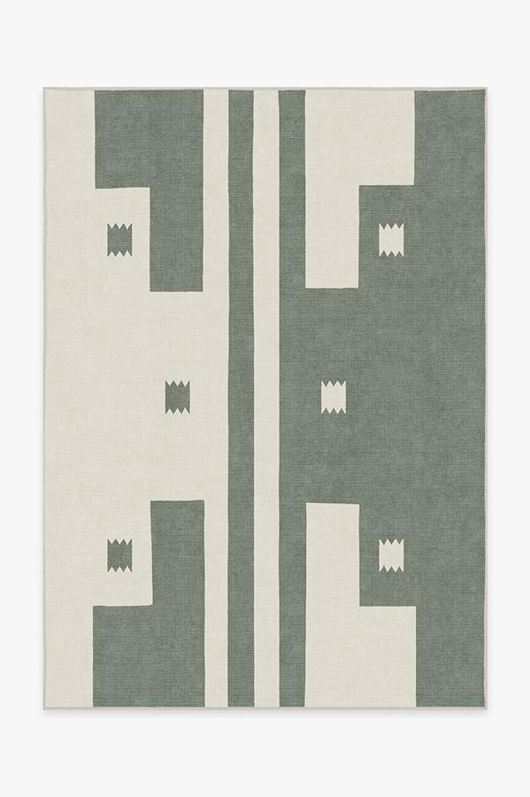 Washable Rug Cover & Pad | Domo Sage Rug | Stain-Resistant | Ruggable | 5'x7'
