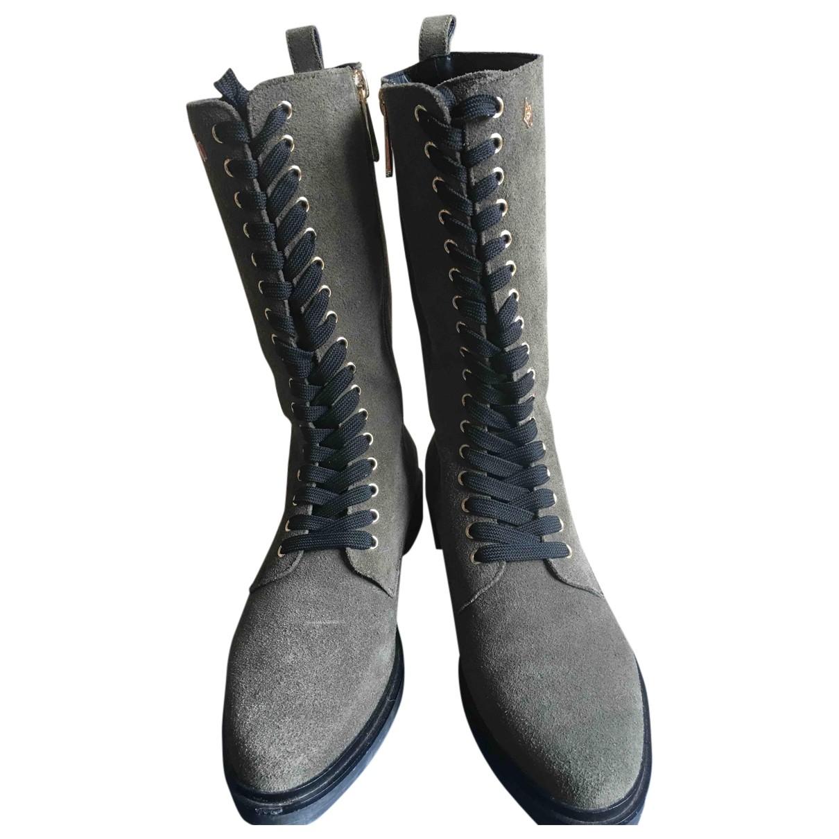 Armani Jean - Boots   pour femme en suede - kaki