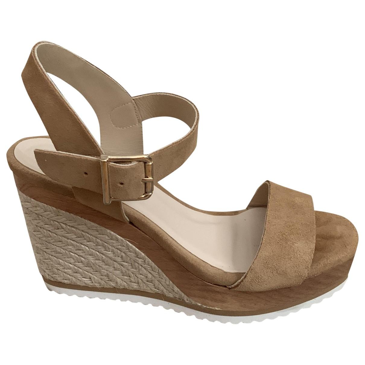 Minelli - Sandales   pour femme en suede - beige