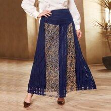 Faldas Extra Grande Envolvente A rayas Elegante