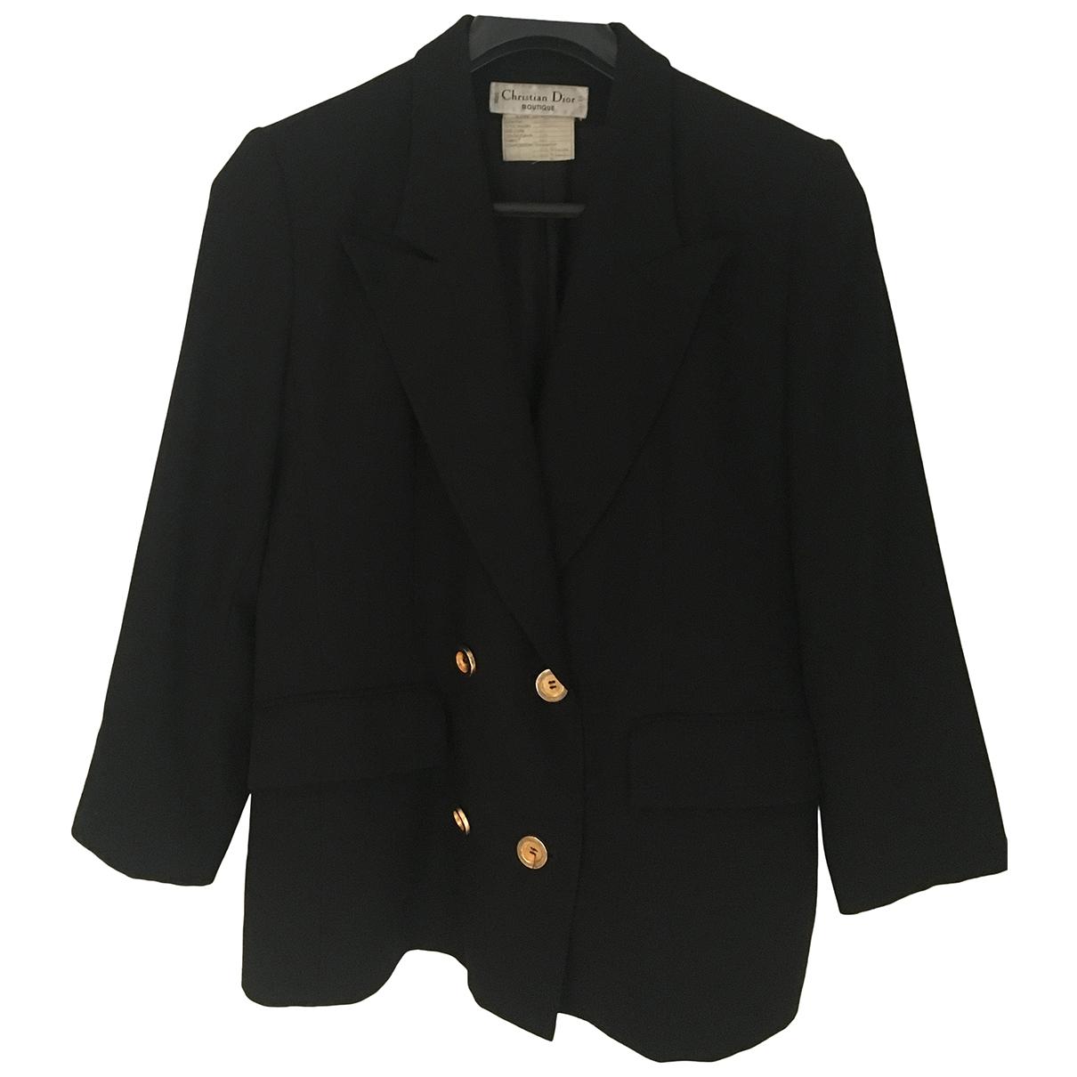 Dior \N Black Wool jacket for Women 46 FR