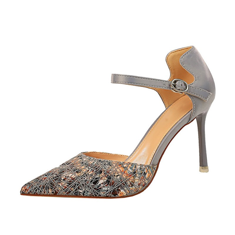 Ericdress Pointed Toe Buckle Color Block Stiletto HeelWomen's Pumps