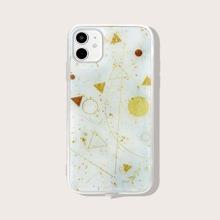 Gold Foil Decor Geometric iPhone Case