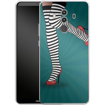 Huawei Mate 10 Pro Silikon Handyhuelle - Stripy Tights von Mark Ashkenazi