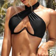 Cross Halter Underwire Bikini Top