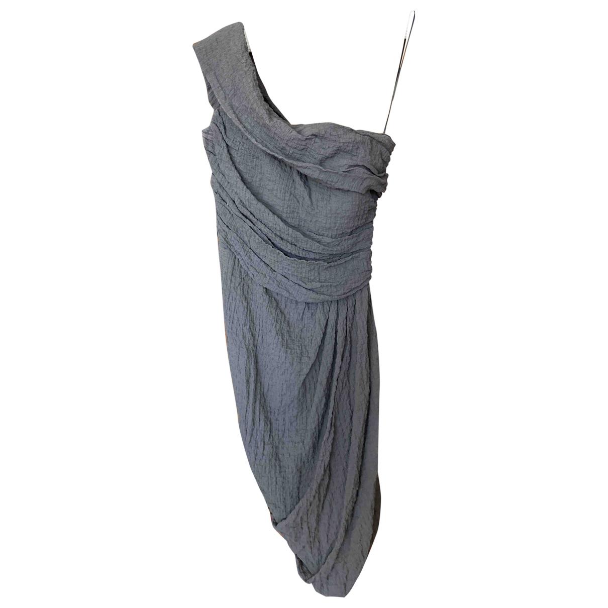 La Petit S***** \N Kleid in  Anthrazit Baumwolle