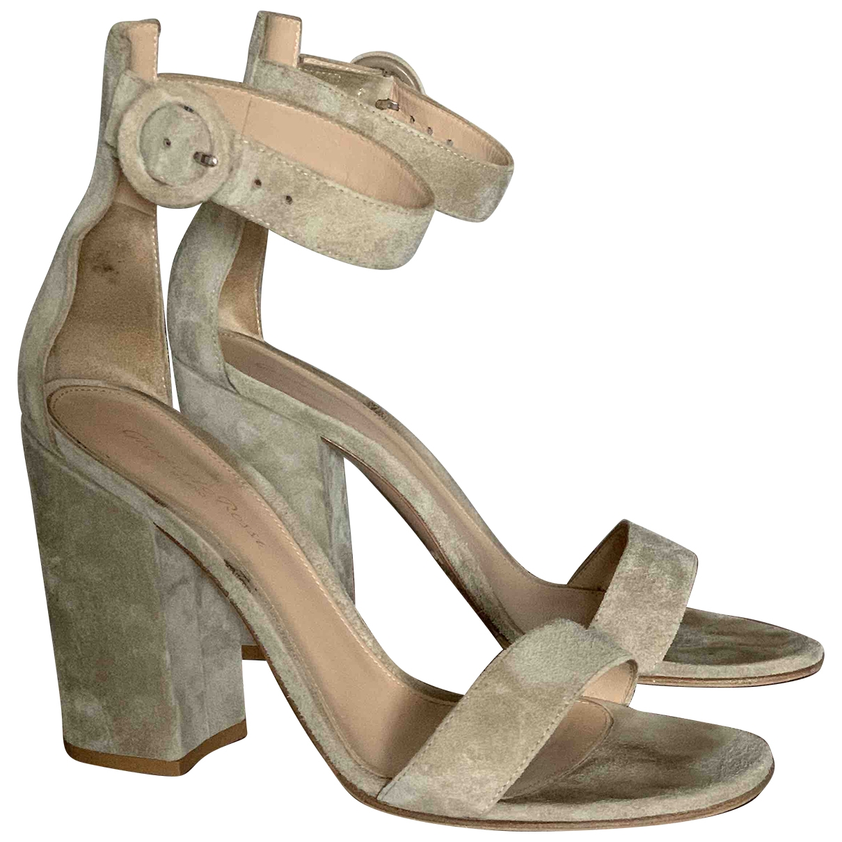 Gianvito Rossi Versilia Beige Suede Sandals for Women 39 EU