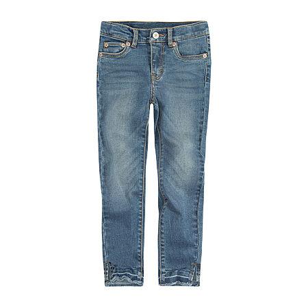 Levi's 710 Lola Little Girls Skinny Fit Jean, 4 , Blue
