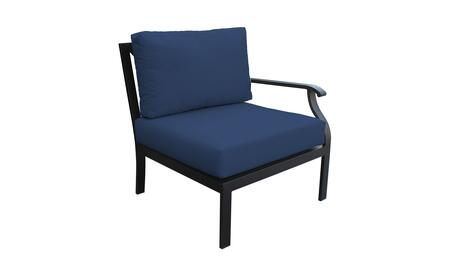 KI062b-LAS-NAVY Madison Ave. Left Arm Chair with 1 Set of Snow and 1 Set of Midnight