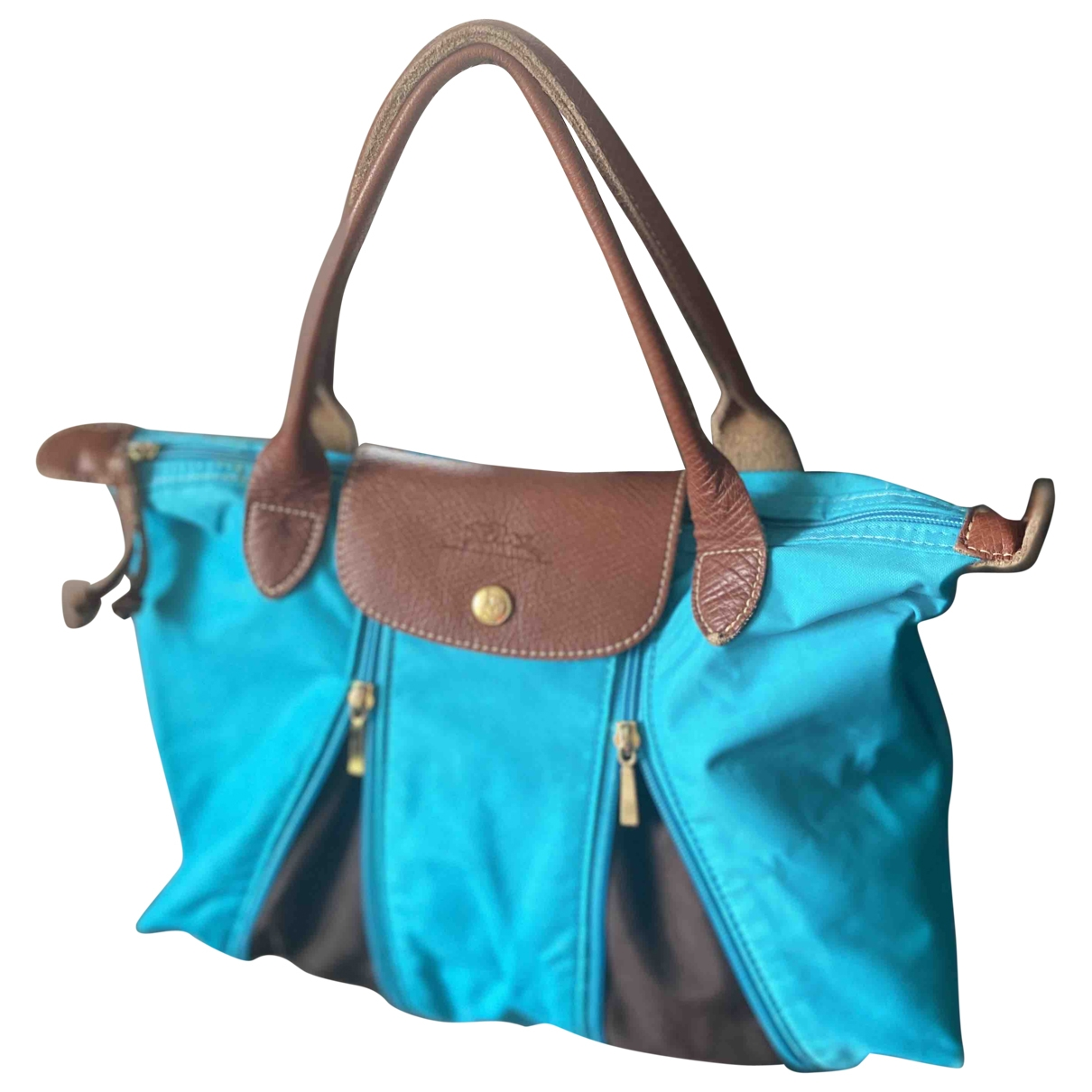 Longchamp Pliage  Blue Cloth handbag for Women \N