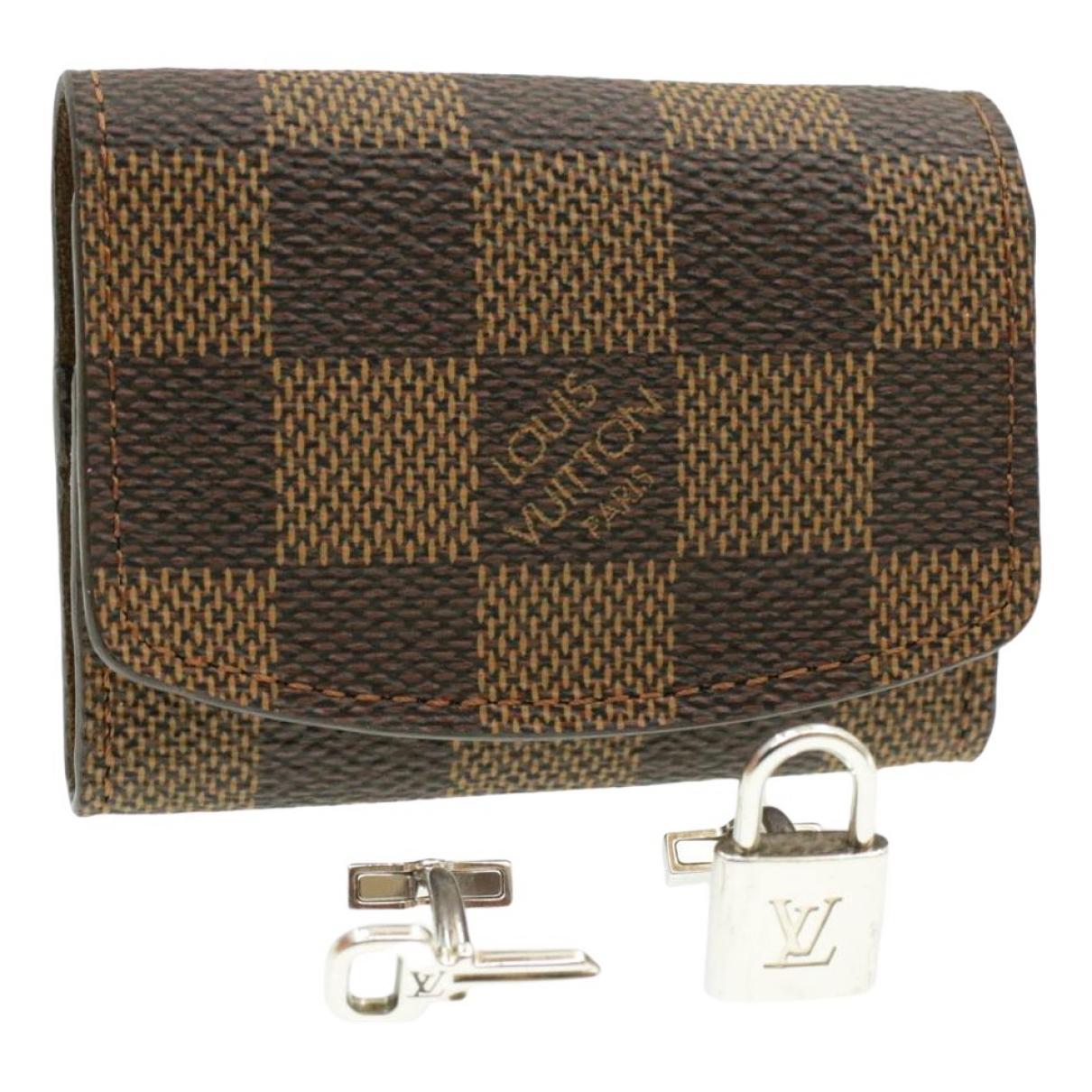 Louis Vuitton \N Manschettenknopfe in  Braun Polyester