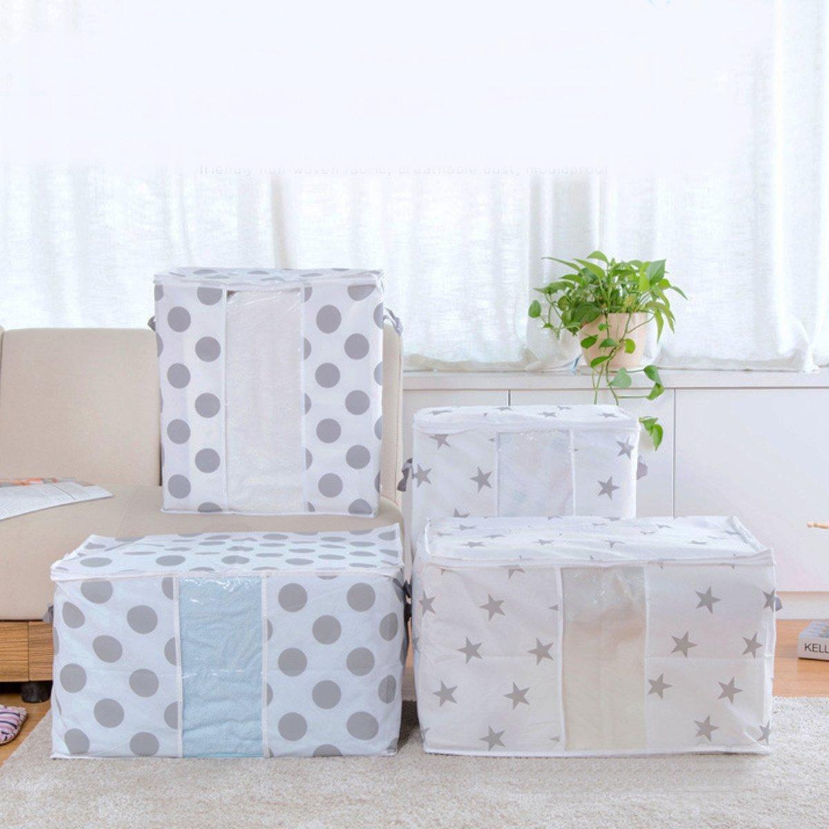 Non-Woven Space Saver Clothes Quilt Blanket Storage Bag Organizer Portable