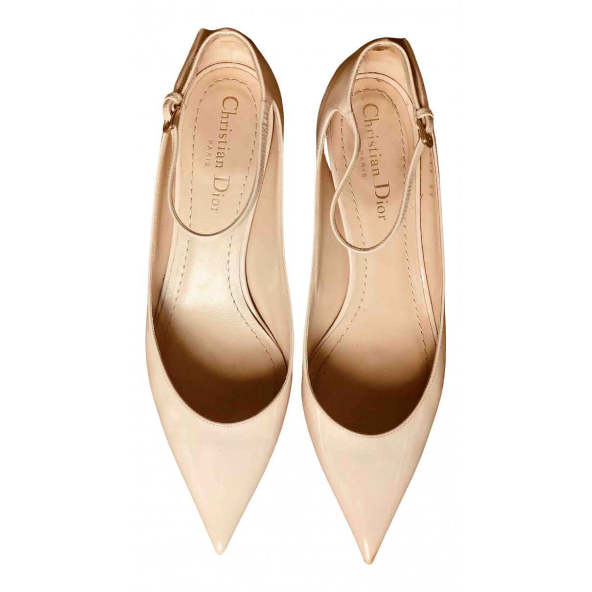 Dior N Beige Patent leather Heels for Women 37 EU