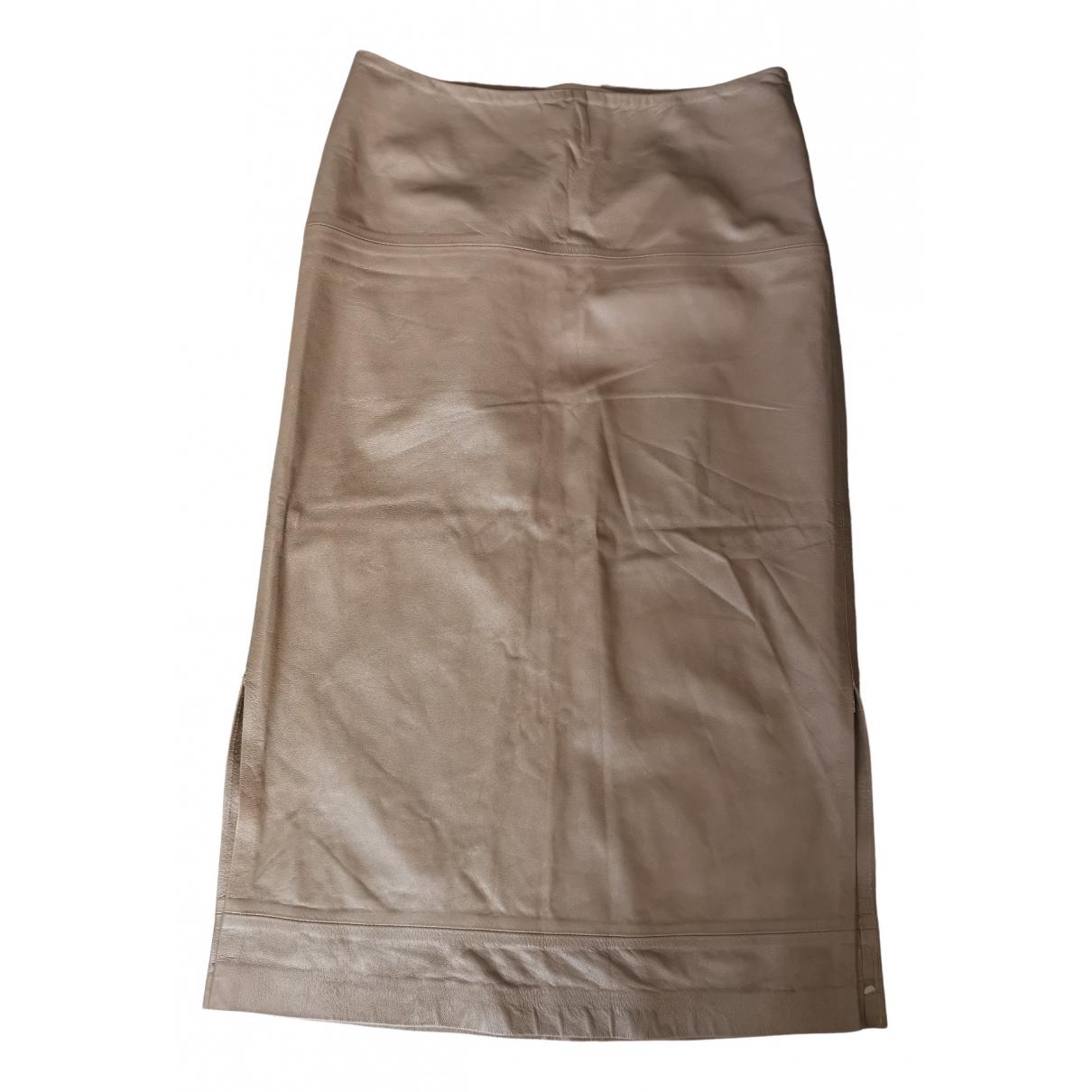 Bally - Jupe   pour femme en cuir - marron