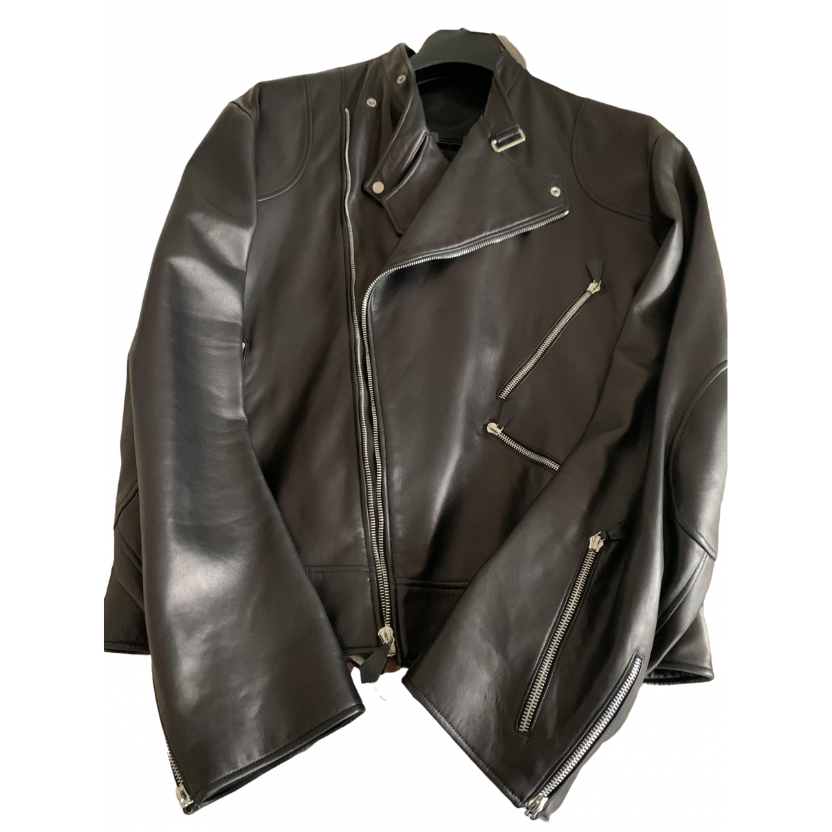 Hermes - Vestes.Blousons   pour homme en cuir - noir