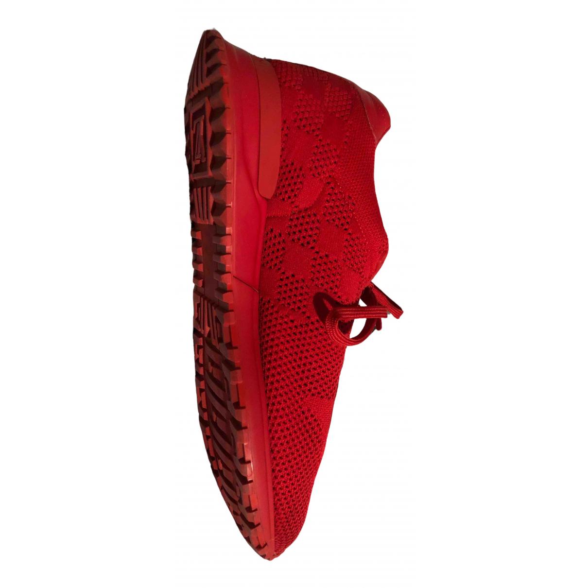Louis Vuitton \N Stiefel in  Rot Leinen