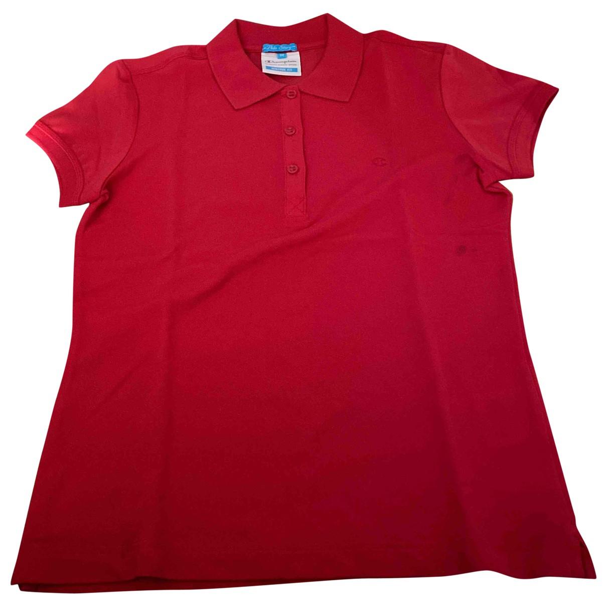 Champion - Top   pour femme en coton - rouge