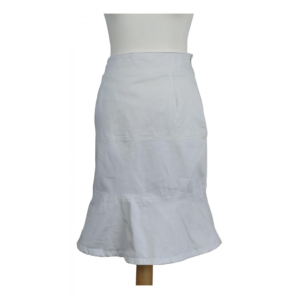 Red Valentino Garavani - Jupe   pour femme en coton - elasthane - blanc