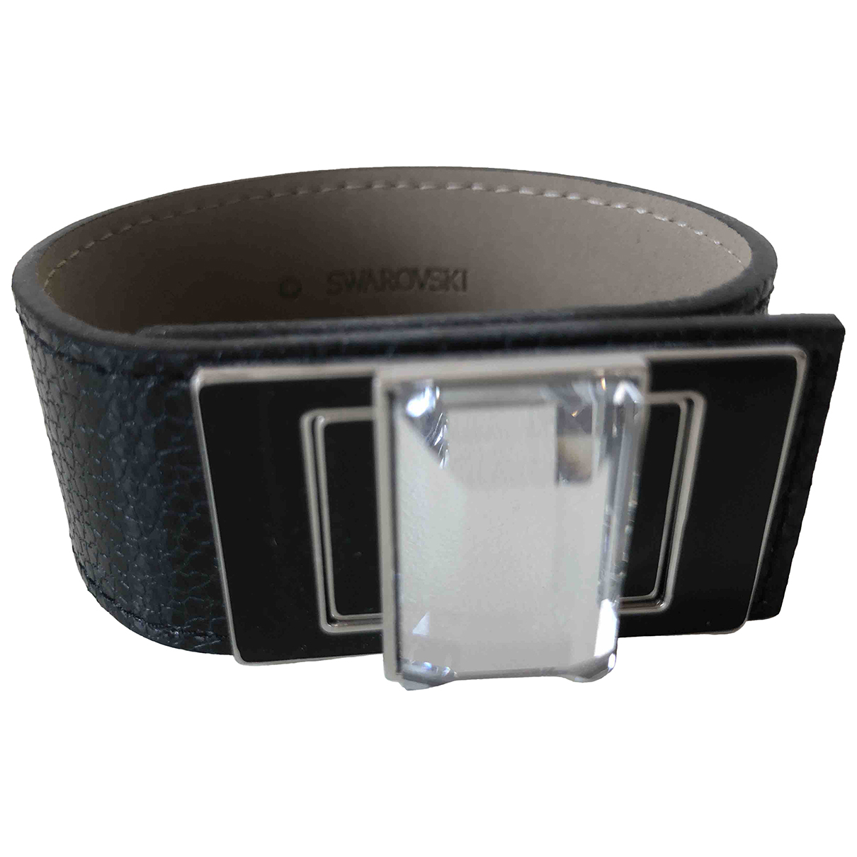 Swarovski - Bracelet   pour femme en cuir - noir