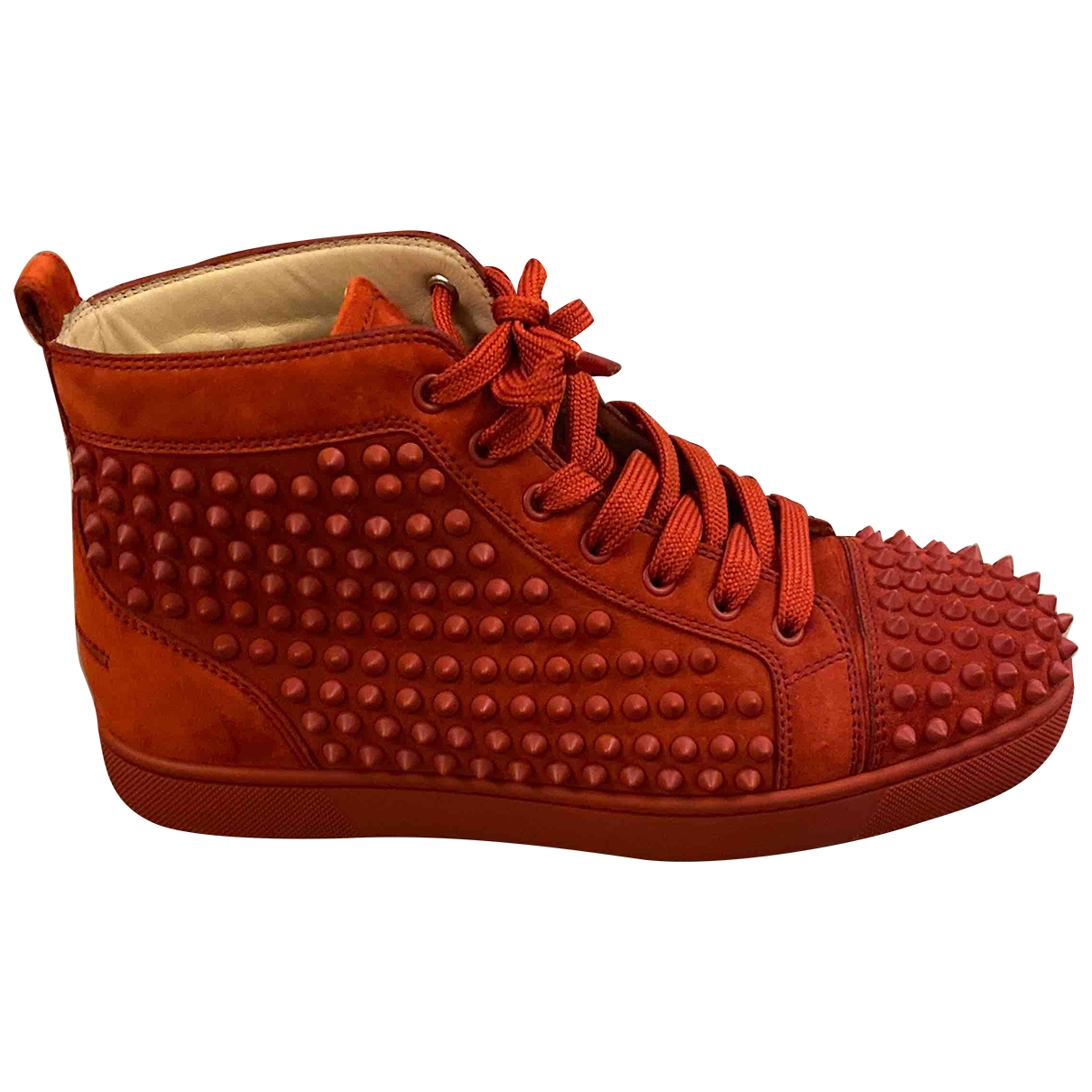 Christian Louboutin Louis Red Suede Trainers for Men 39.5 EU