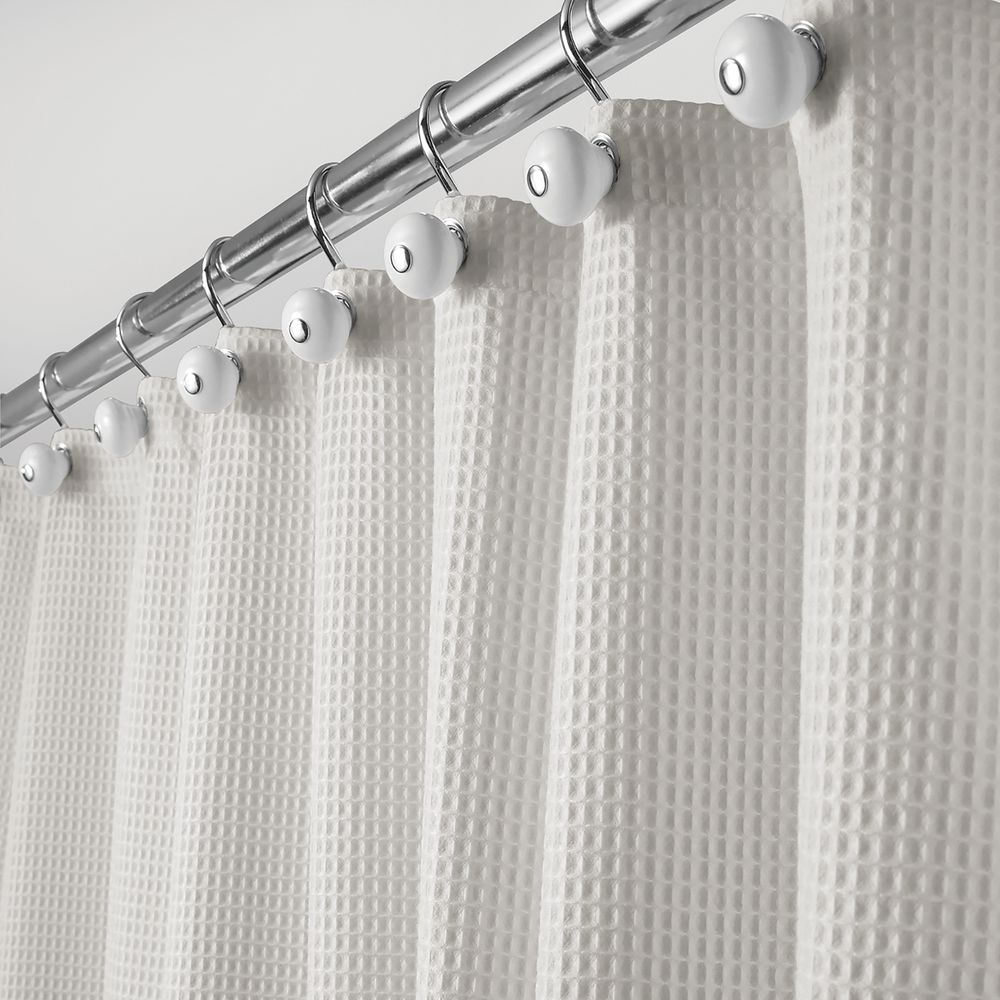 Waffle Weave Fabric Shower Curtain, in Cloud Gray, 72
