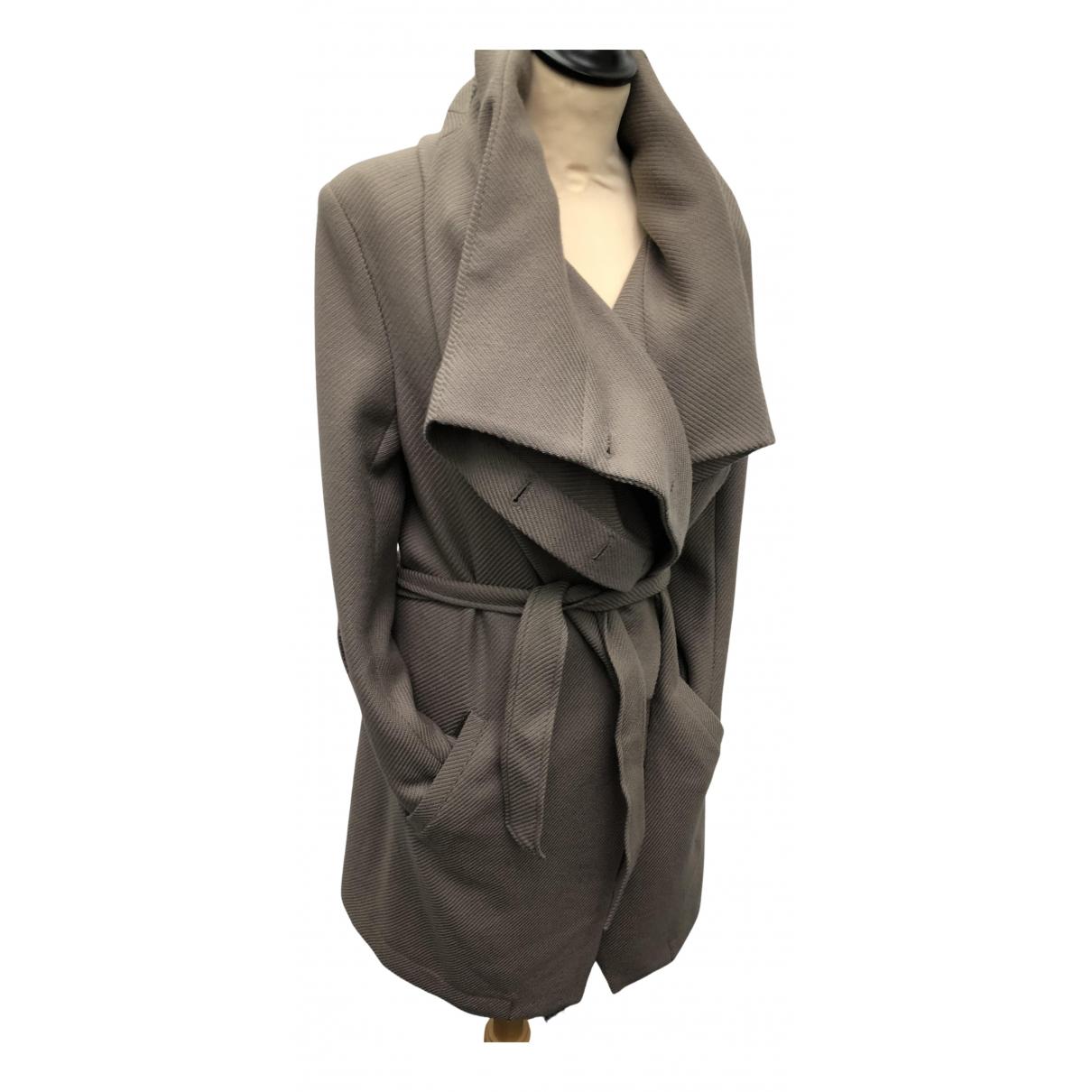 Ann Demeulemeester - Manteau   pour femme en laine - beige