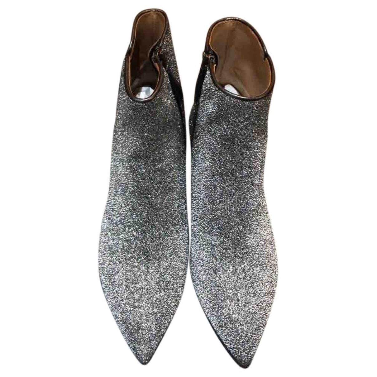 Aquazzura - Boots   pour femme en a paillettes - argente