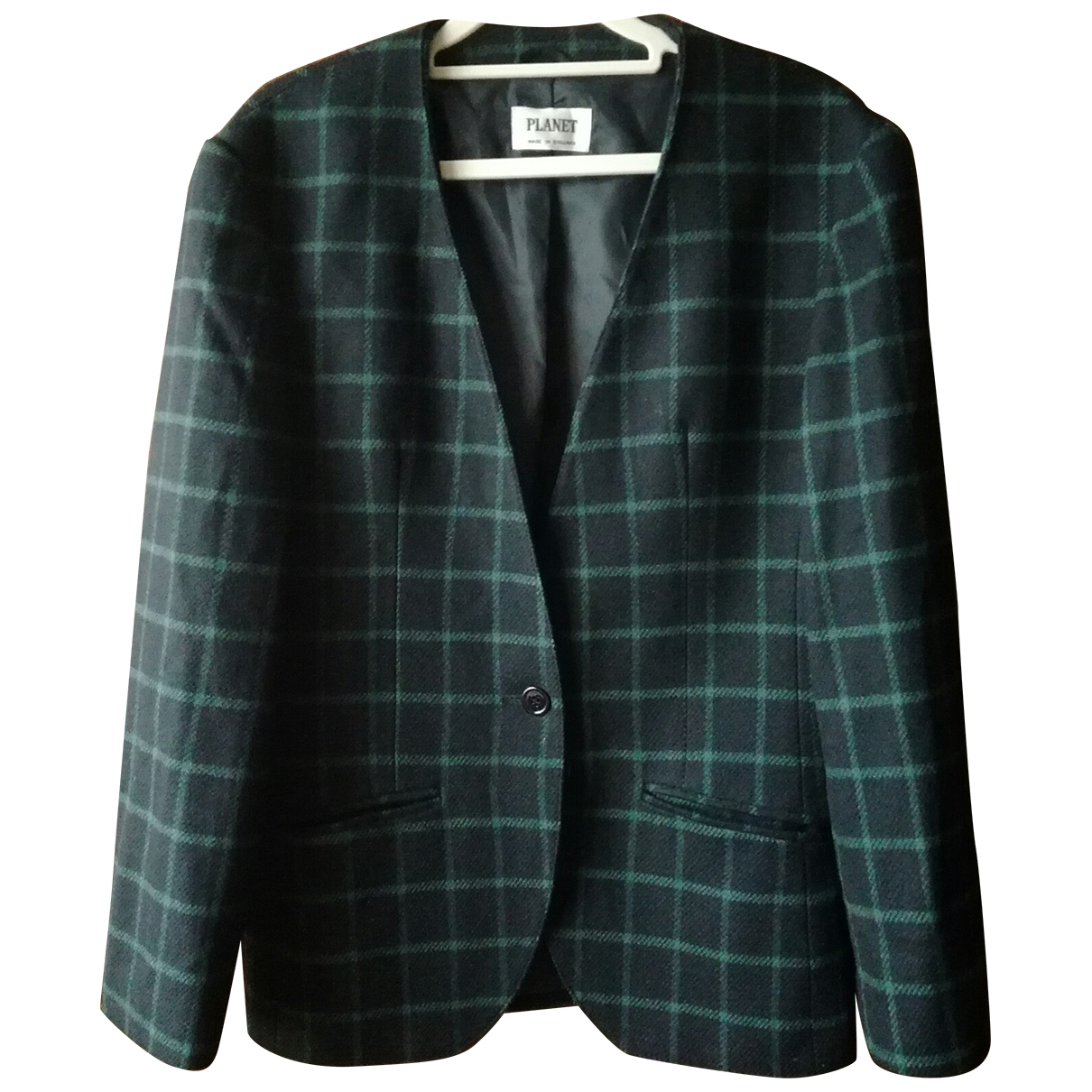Non Signé / Unsigned \N Green Wool jacket for Women 10 UK