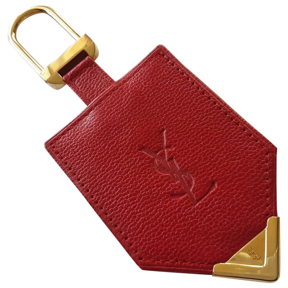 Yves Saint Laurent \N Taschenschmuck in  Rot Leder