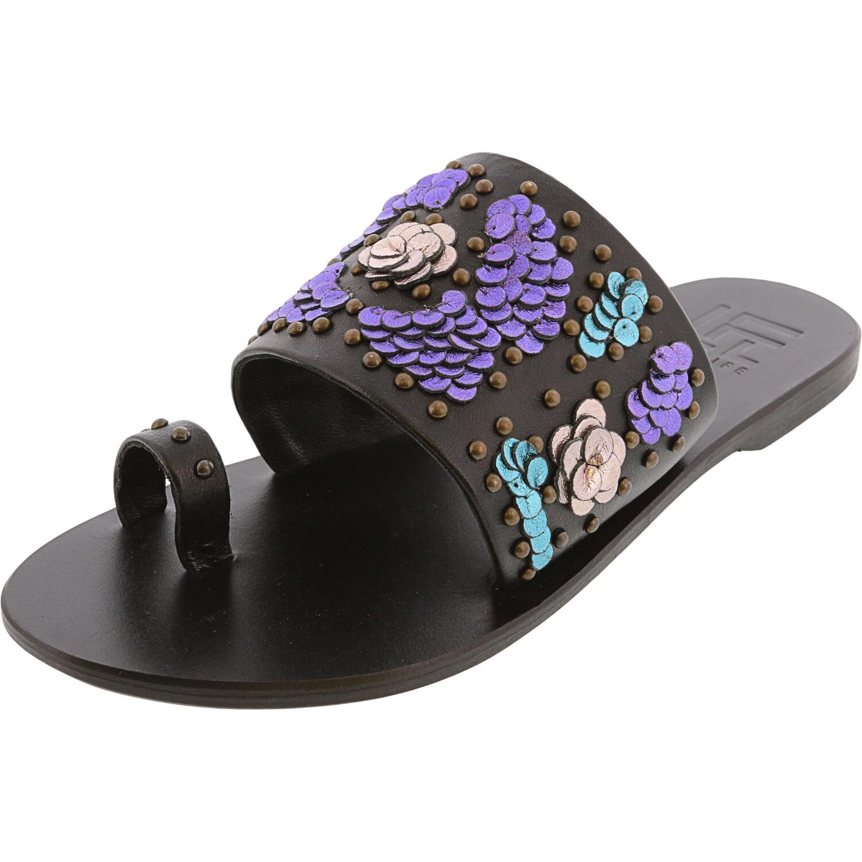 Lust Women's Flawless Leather Black Sandal - 6.5M