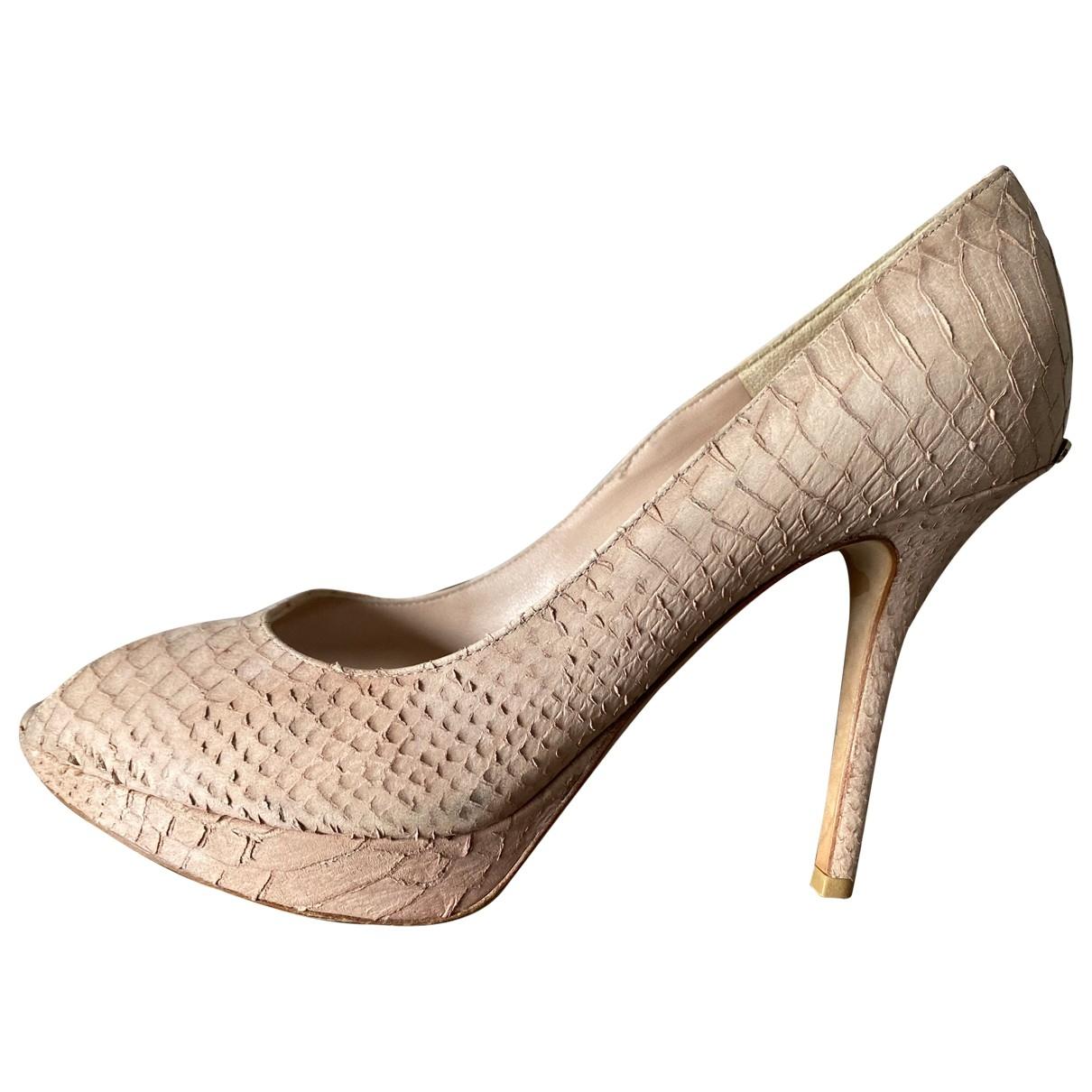 Dior - Escarpins   pour femme en python - rose