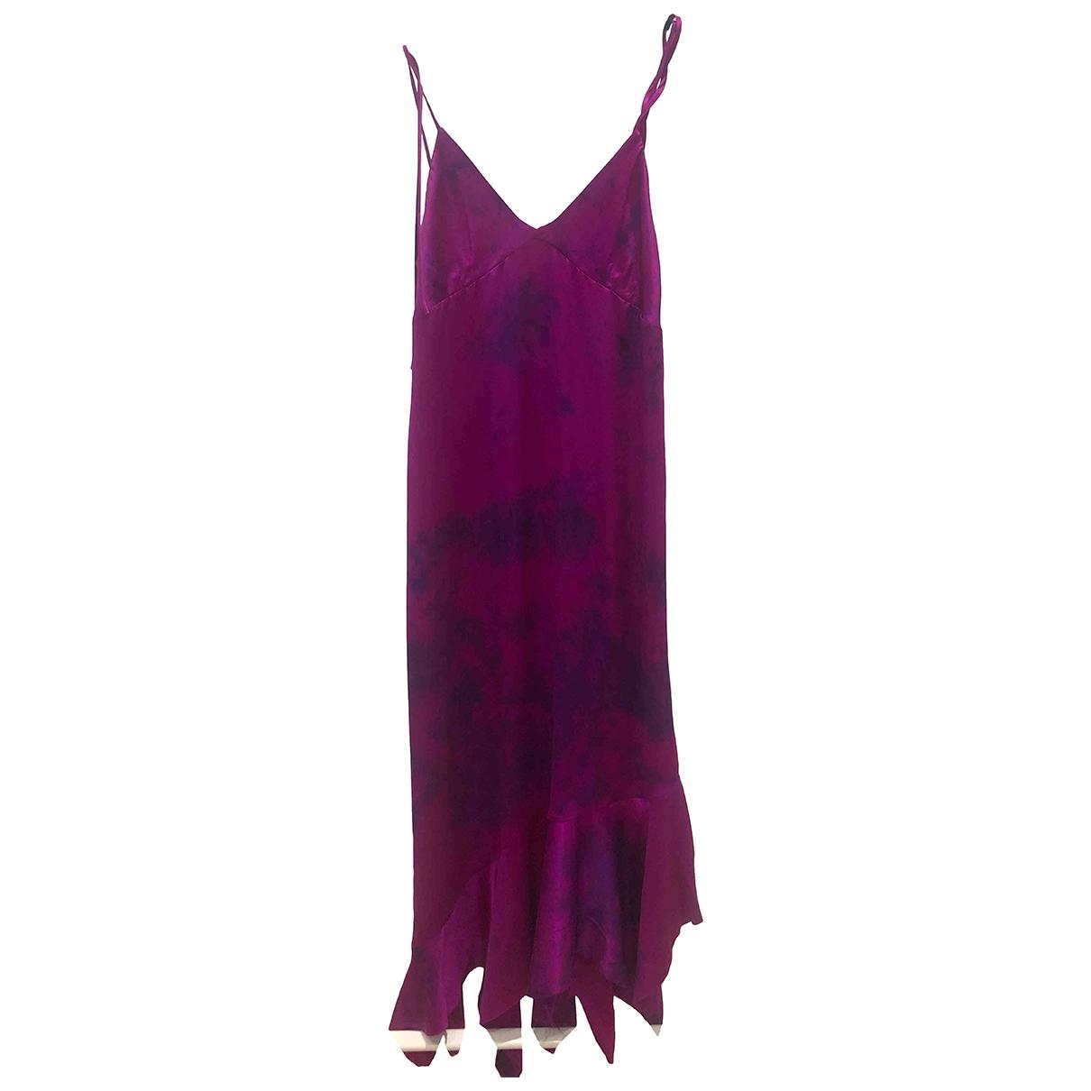 Marques Almeida \N Kleid in  Lila Seide