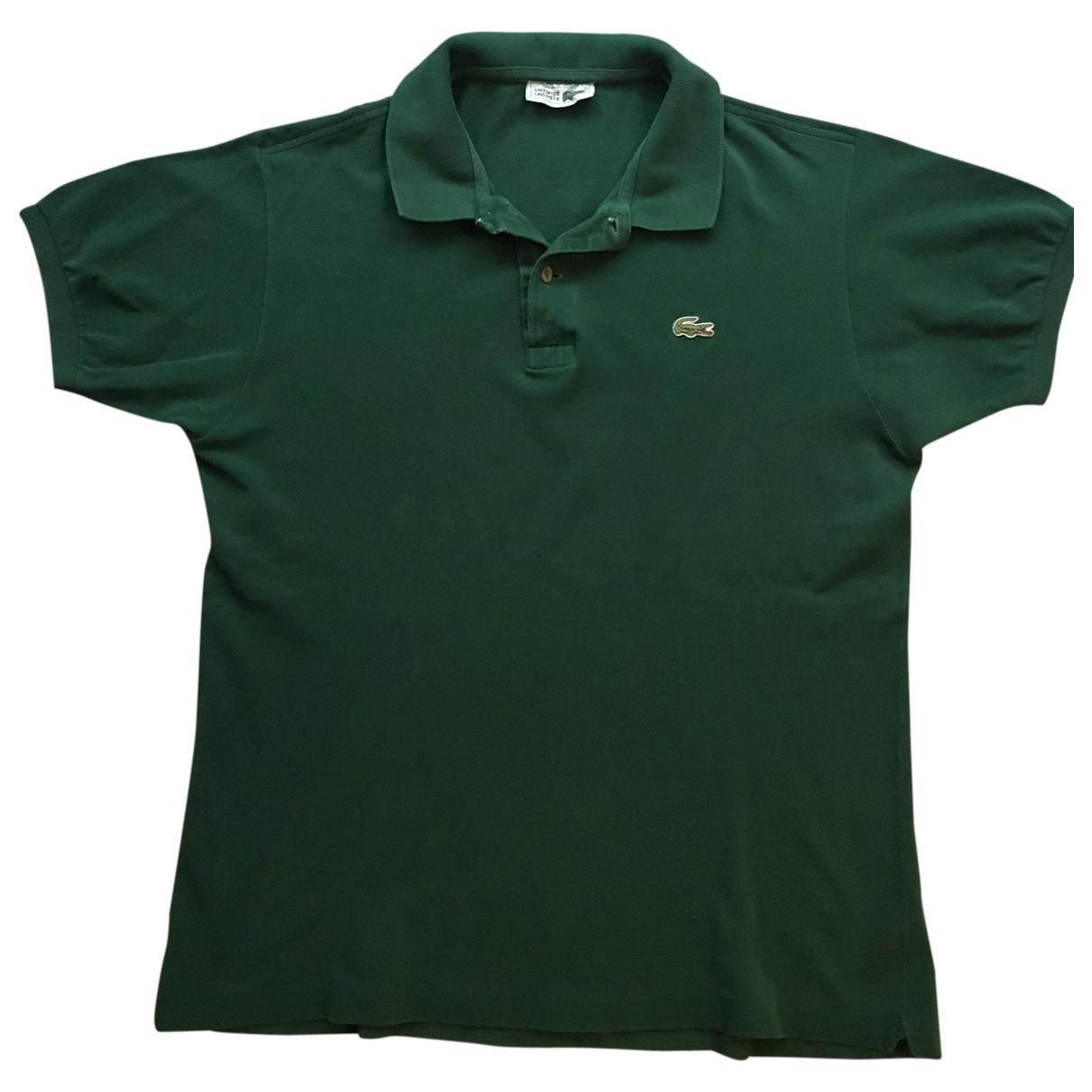 Lacoste - Polos   pour homme en coton - vert