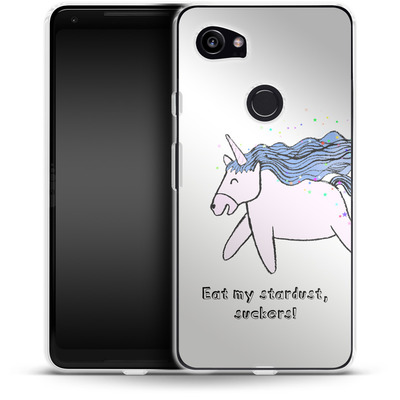 Google Pixel 2 XL Silikon Handyhuelle - Eat my stardust von caseable Designs