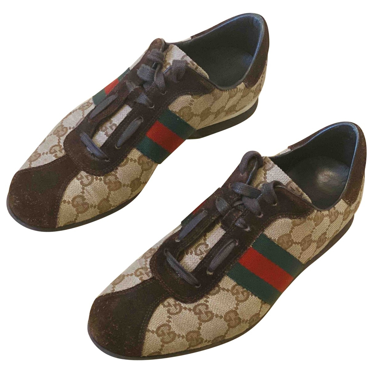 Gucci \N Brown Cloth Trainers for Women 37 EU