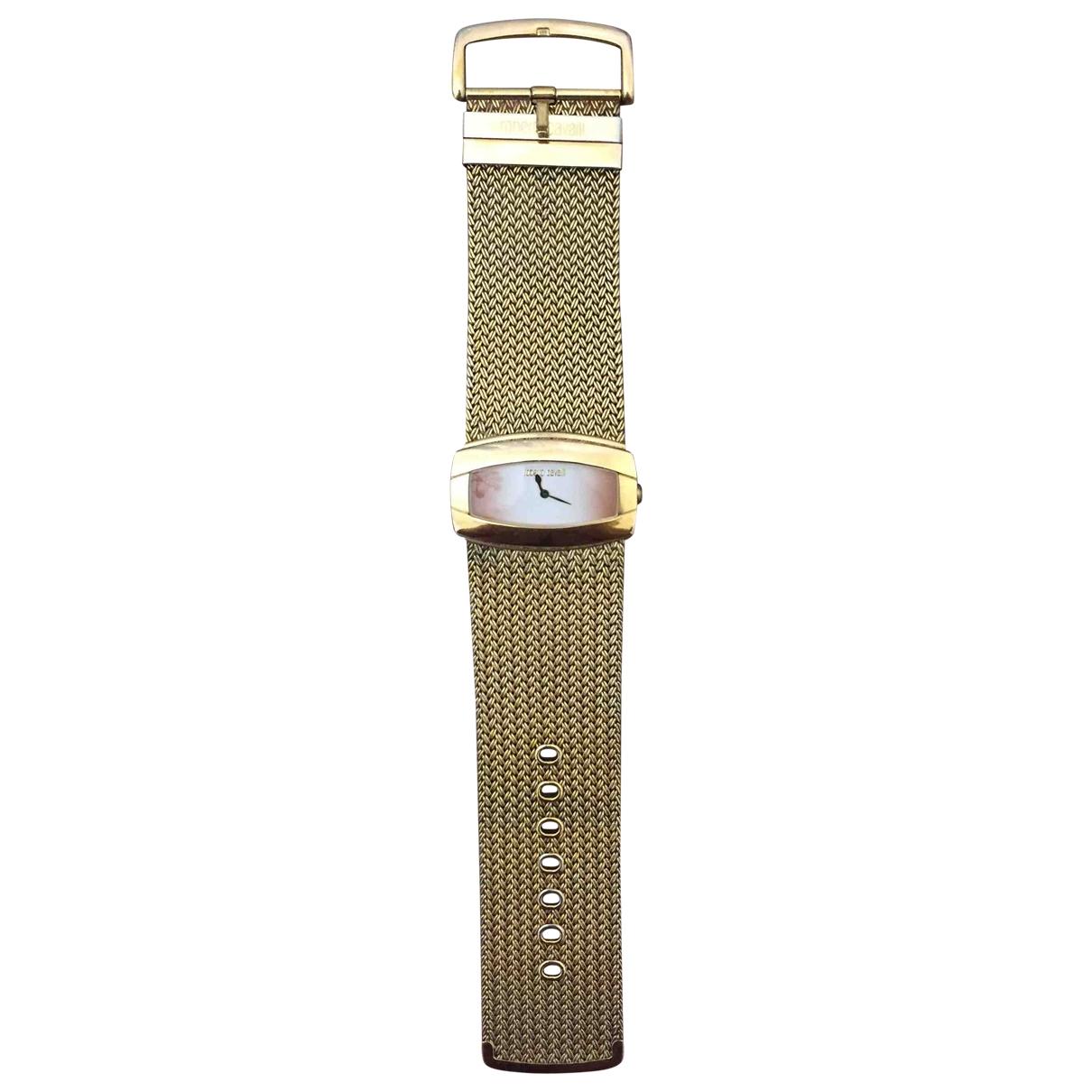 Roberto Cavalli \N Uhr in  Gold Stahl