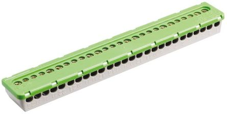 Entrelec , MISTRAL65 Non-Fused Terminal Block, 26 Way/Pole, Screw Terminals, 6 mm², 16 mm² Clip Mount, PE