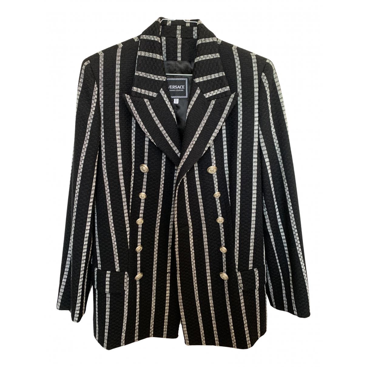 Versace Jean - Manteau   pour femme en laine - noir