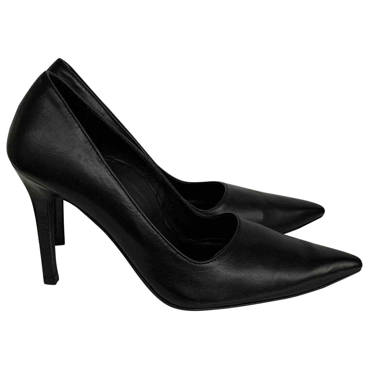 Ann Demeulemeester - Sabots   pour femme en cuir - noir