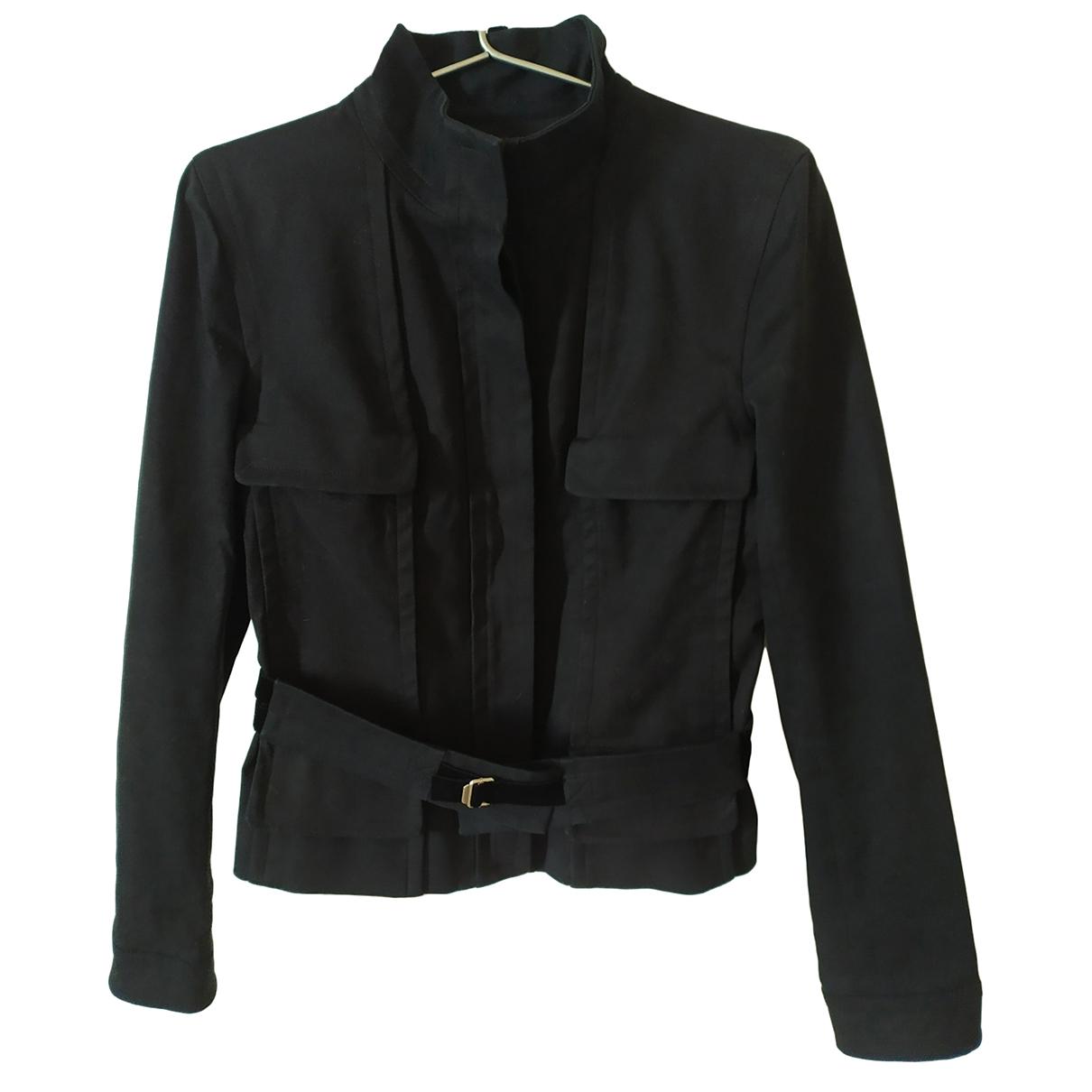 Yves Saint Laurent \N Jacke in  Schwarz Baumwolle