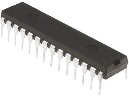 Microchip PIC18F26K80-E/SP, 8bit PIC18F Microcontroller, PIC18F, 64MHz, 64 kB Flash, 28-Pin SPDIP (15)
