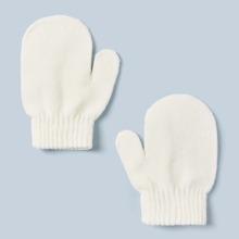 1pair Toddler Kids Knit Gloves