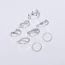 8pcs Heart Decor Ring