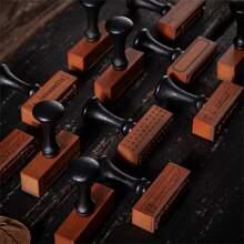 1 pieza sello de madera vintage