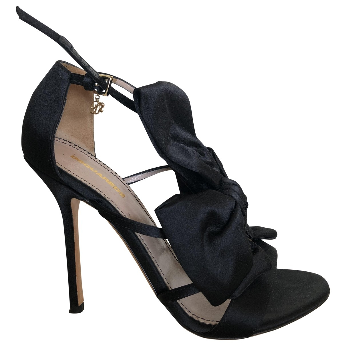 Dsquared2 \N Black Leather Sandals for Women 37 EU