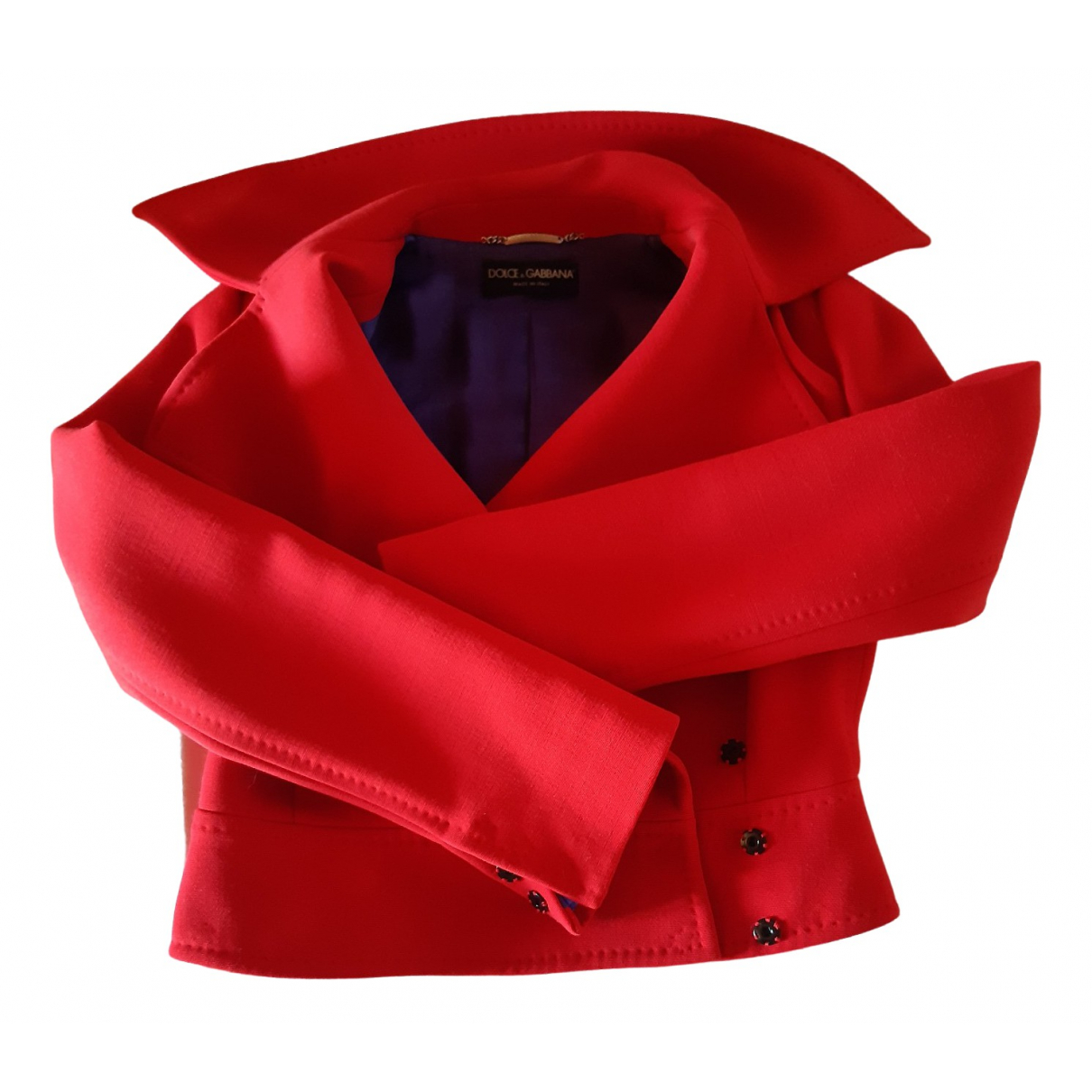 Dolce & Gabbana \N Red Wool jacket for Women 40 FR