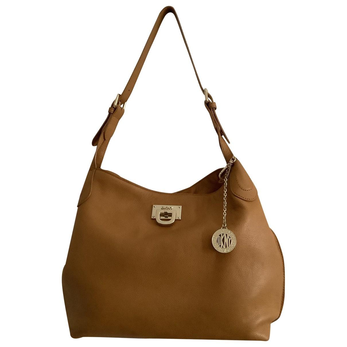 Dkny \N Handtasche in  Orange Leder