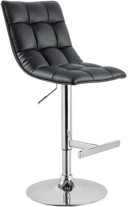 Holden Collection BF3006B Barstool in Black and Chrome