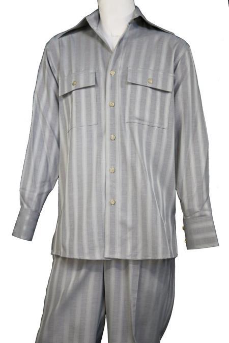 Mens Harlem Designer Button Fastening Walking Suit