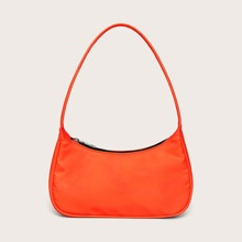 Neon Orange Baguette Tasche
